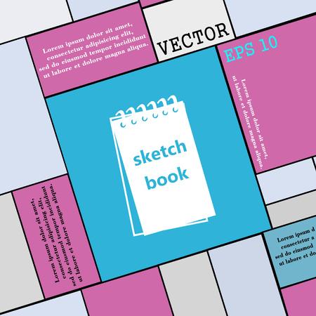 sketchbook: Sketchbook icon sign. Modern flat style for your design. Vector illustration Illustration