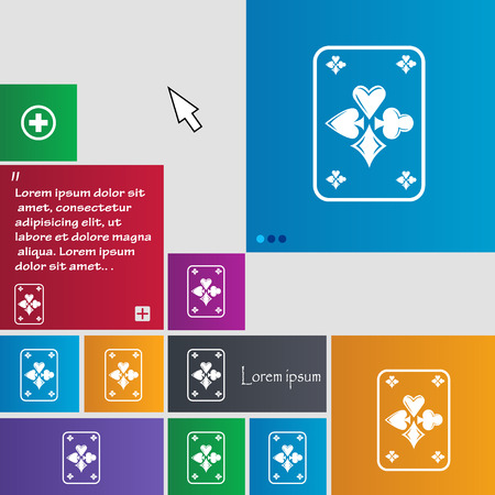 game cards: game cards icon sign. buttons. Modern interface website buttons with cursor pointer. Vector illustration