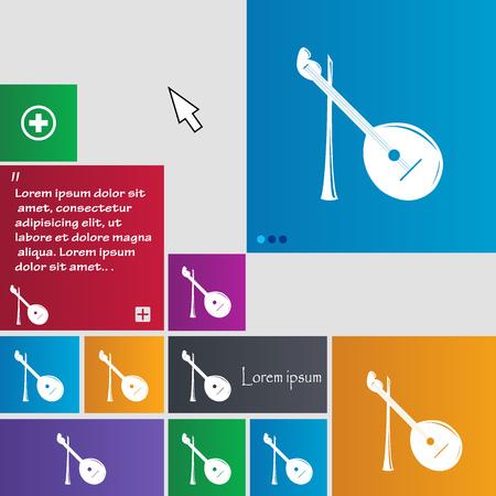 balalaika: Balalaika icon sign. buttons. Modern interface website buttons with cursor pointer. Vector illustration Illustration