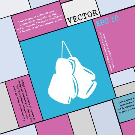 athletic type: boxing gloves icon sign. Modern flat style for your design. Vector illustration Illustration