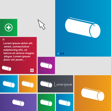 pencil case: pencil case icon sign. buttons. Modern interface website buttons with cursor pointer. Vector illustration