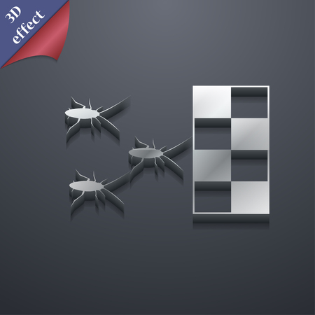 infestation: cockroach races icon symbol. 3D style. Trendy, modern design with space for your text Vector illustration