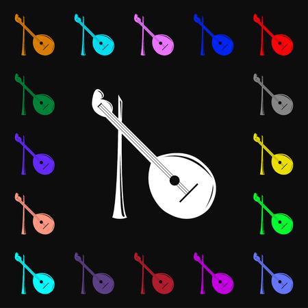 balalaika: Balalaika icon sign. Lots of colorful symbols for your design. Vector illustration Illustration