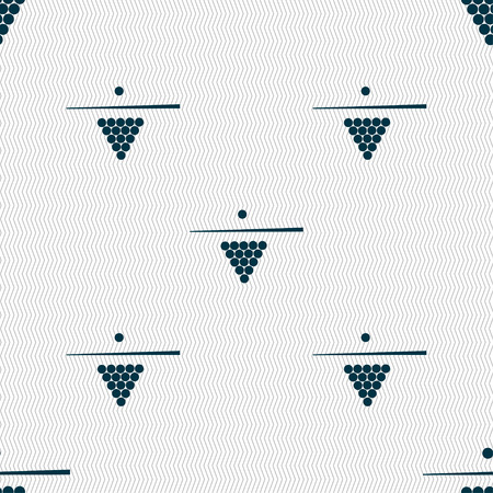 pool game: Billiard pool game equipment icon sign. Seamless pattern with geometric texture. Vector illustration
