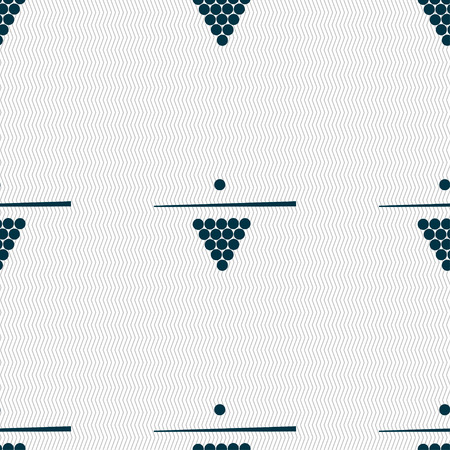snooker rooms: Billiard pool game equipment icon sign. Seamless pattern with geometric texture. Vector illustration