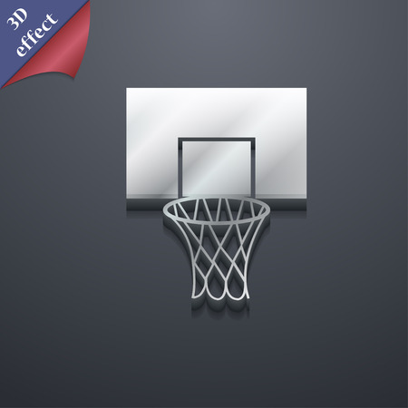 backboard: Basketball backboard icon symbol. 3D style. Trendy, modern design with space for your text Vector illustration