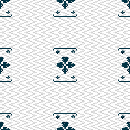 game cards: game cards icon sign. Seamless pattern with geometric texture. Vector illustration Illustration