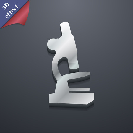 microscope lens: Microscope icon symbol. 3D style. Trendy, modern design with space for your text Vector illustration