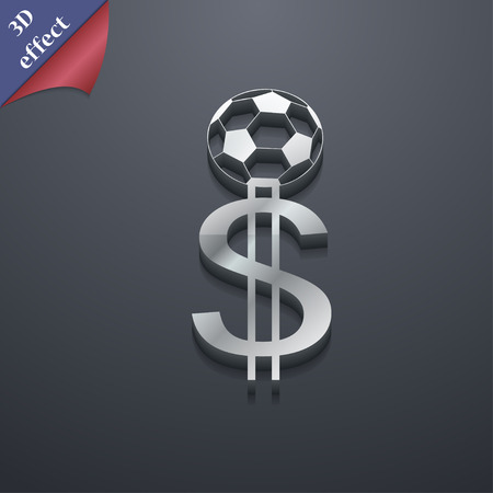 collector: betting on football, Money Collector, bookmaker icon symbol. 3D style. Trendy, modern design with space for your text Vector illustration Illustration