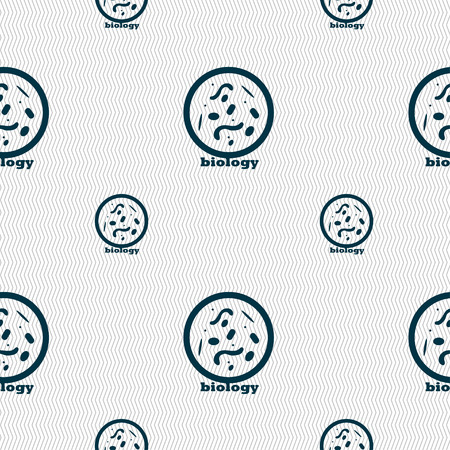 spirochete: bacteria and virus disease, biology cell under microscope icon sign. Seamless pattern with geometric texture. Vector illustration