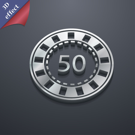 pursuit: Gambling chips icon symbol. 3D style. Trendy, modern design with space for your text Vector illustration