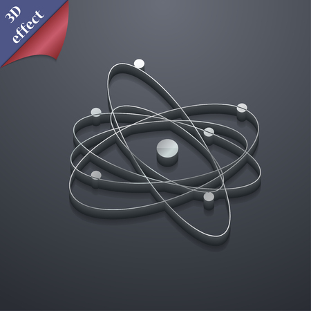 the big bang: physics, atom, big bang icon symbol. 3D style. Trendy, modern design with space for your text Vector illustration