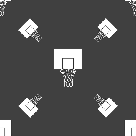 backboard: Basketball backboard icon sign. Seamless pattern on a gray background. Vector illustration Illustration
