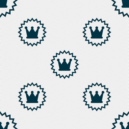 rown: ?rown icon sign. Seamless pattern with geometric texture. Vector illustration Illustration