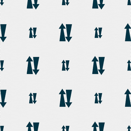 two way traffic: Two way traffic, icon sign. Seamless pattern with geometric texture. Vector illustration Illustration