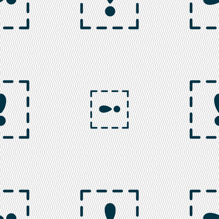 exclamation point: The exclamation point in a square icon sign. Seamless pattern with geometric texture. Vector illustration