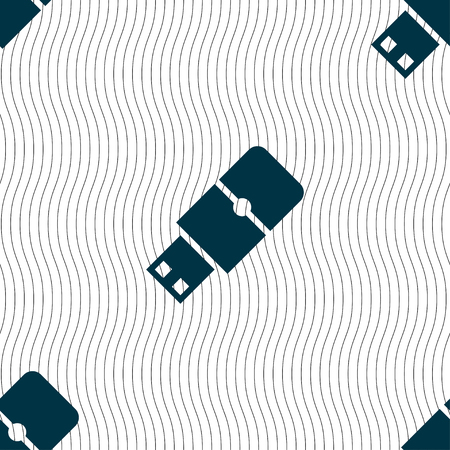 sumbol: USB flash icon sign. Seamless pattern with geometric texture. Vector illustration