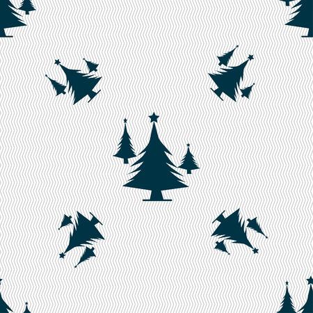 coniferous forest: bosques de con�feras, �rbol, �rbol de abeto icono de la muestra. Patr�n sin fisuras con textura geom�trica. ilustraci�n vectorial Vectores