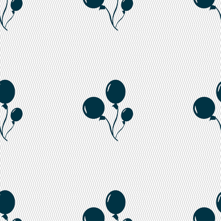 aerostatics: Balloons icon sign. Seamless pattern with geometric texture. Vector illustration Illustration