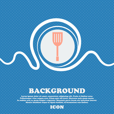blue white kitchen: Kitchen appliances icon sign. Blue and white abstract background flecked with space for text and your design. Vector illustration