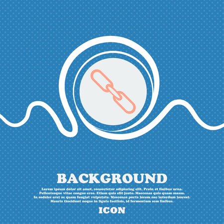 appendix: Link sign icon. Hyperlink chain symbol. Blue and white abstract background flecked with space for text and your design. Vector illustration Illustration