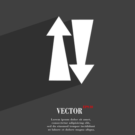 two way traffic: Two way traffic, symbol Flat modern web design with long shadow and space for your text. Vector illustration Illustration
