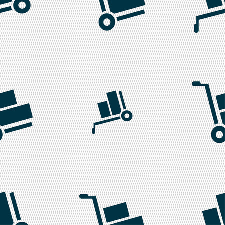 work crate: Loader icon sign. Seamless pattern with geometric texture. Vector illustration