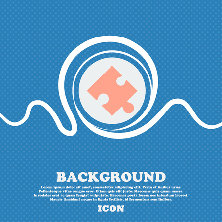 puzzle corners: Puzzle piece icon sign. Blue and white abstract background flecked with space for text and your design. Vector illustration