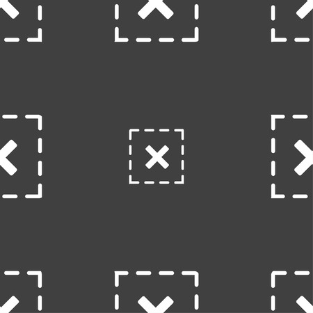 criss: Cross in square icon sign. Seamless pattern on a gray background. Vector illustration Illustration