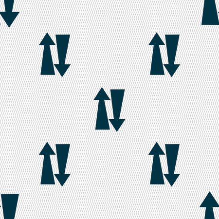 two way: Two way traffic, icon sign. Seamless pattern with geometric texture. Vector illustration Illustration