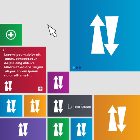 two way traffic: Two way traffic, icon sign. buttons. Modern interface website buttons with cursor pointer. Vector illustration