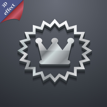 rown: ?rown icon symbol. 3D style. Trendy, modern design with space for your text Vector illustration