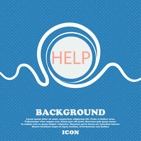 your point: Help point sign icon. Question symbol. Blue and white abstract background flecked with space for text and your design. Vector illustration