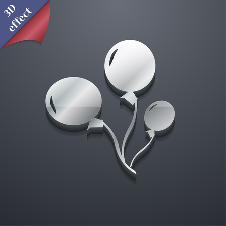 medium group of object: Balloons icon symbol. 3D style. Trendy, modern design with space for your text Vector illustration