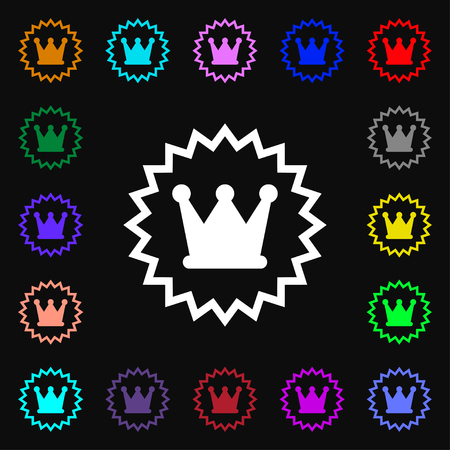 rown: ?rown icon sign. Lots of colorful symbols for your design. Vector illustration