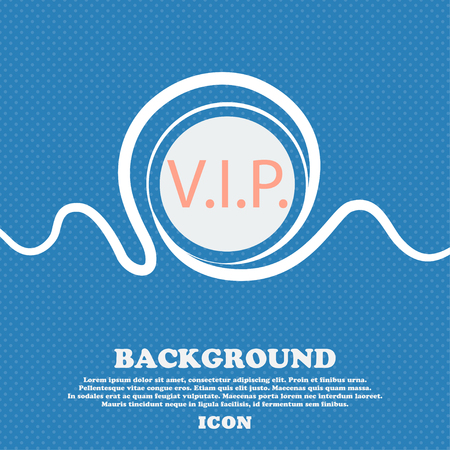 very important person: Vip sign icon. Membership symbol. Very important person. Blue and white abstract background flecked with space for text and your design. Vector illustration