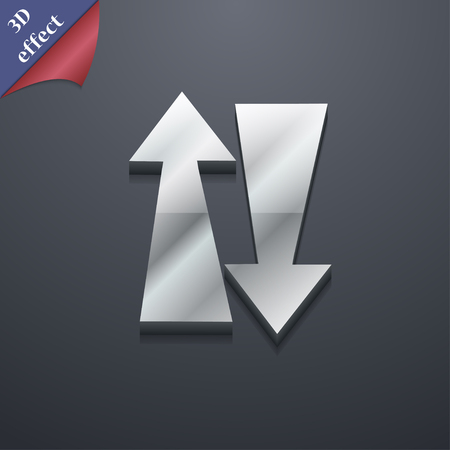 two way traffic: Two way traffic, icon symbol. 3D style. Trendy, modern design with space for your text Vector illustration Illustration