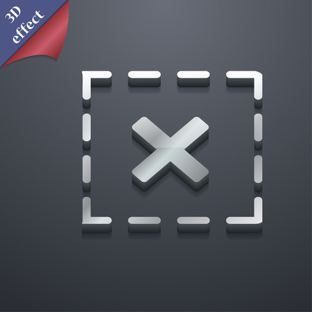 rood: Cross in square icon symbol. 3D style. Trendy, modern design with space for your text Vector illustration