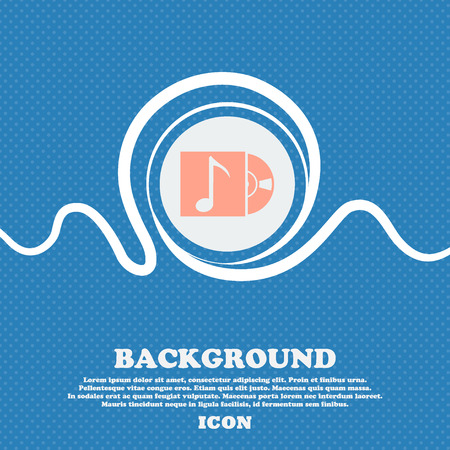 cd player: cd player icon sign. Blue and white abstract background flecked with space for text and your design. Vector illustration