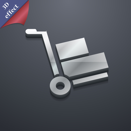 work crate: Loader icon symbol. 3D style. Trendy, modern design with space for your text Vector illustration