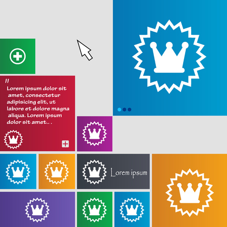 rown: ?rown icon sign. buttons. Modern interface website buttons with cursor pointer. Vector illustration Illustration