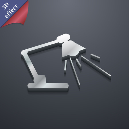 lamplight: Reading-lamp icon symbol. 3D style. Trendy, modern design with space for your text Vector illustration