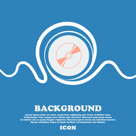 Cd, DVD, compact disk, blue ray sign icon. Blue and white abstract background flecked with space for text and your design. Vector illustration Illustration