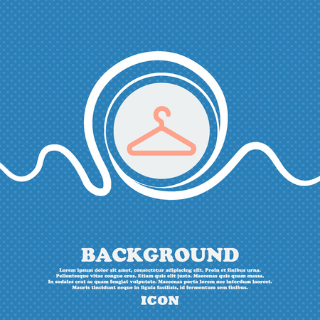 clothes hanger: clothes hanger sign icon. Blue and white abstract background flecked with space for text and your design. Vector illustration Illustration