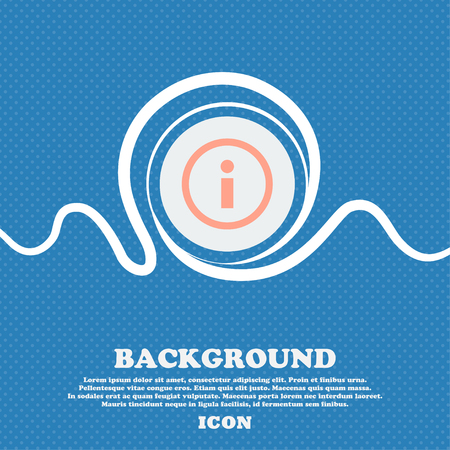 bubble background: Information sign icon. Info speech bubble symbol. Blue and white abstract background flecked with space for text and your design. Vector illustration Illustration