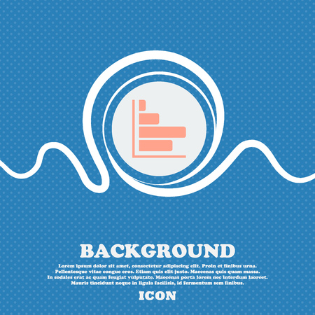 economic forecast: Infographic icon sign. Blue and white abstract background flecked with space for text and your design. Vector illustration