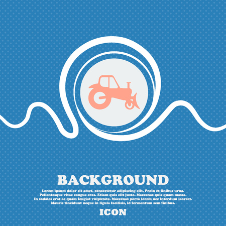 tractor sign: Tractor sign. Blue and white abstract background flecked with space for text and your design. Vector illustration Illustration