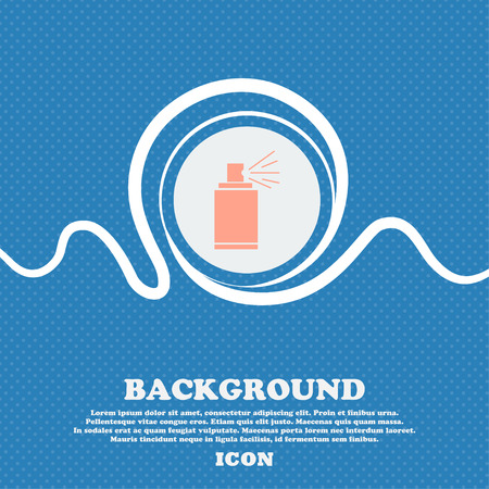 aerosol can: Graffiti spray can sign icon. Aerosol paint symbol. Blue and white abstract background flecked with space for text and your design. Vector illustration