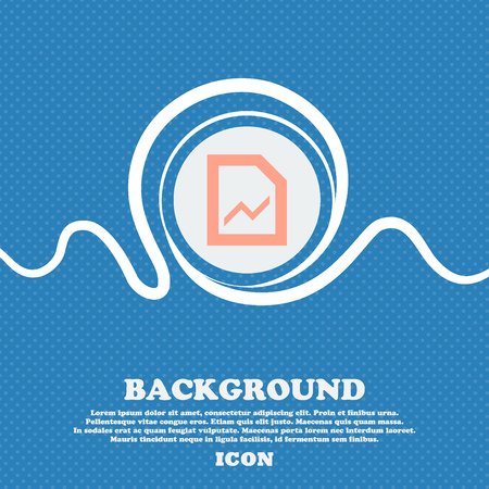 upturn: Growth and development concept. graph of Rate  sign icon. Blue and white abstract background flecked with space for text and your design. Vector illustration Illustration