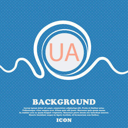 Ukraine Sign Icon Symbol Ua Navigation Blue And White Abstract